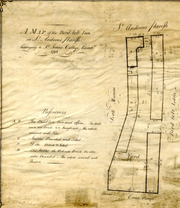 Plan of the Birdbolt Inn (1792)