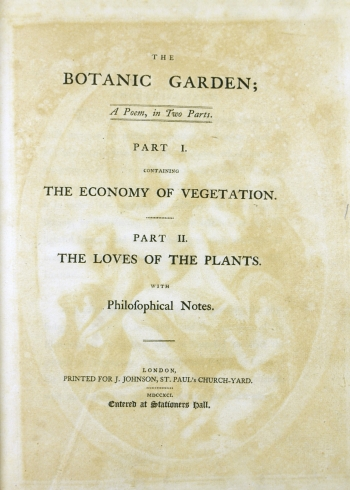 The Botanic Garden's title page.