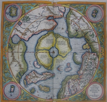 Map of 'Polus Arcticus', the North Pole, from the Atlas