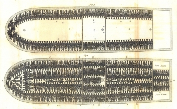Plan of a typical slave ship
