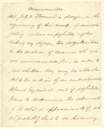 Memorandum of 1841
