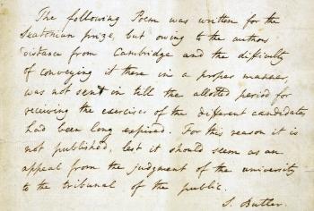 Butler's explanatory note.