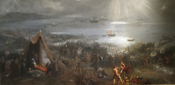 An 1826 painting of the Battle of Clontarf by the Irish artist, Hugh Frazer