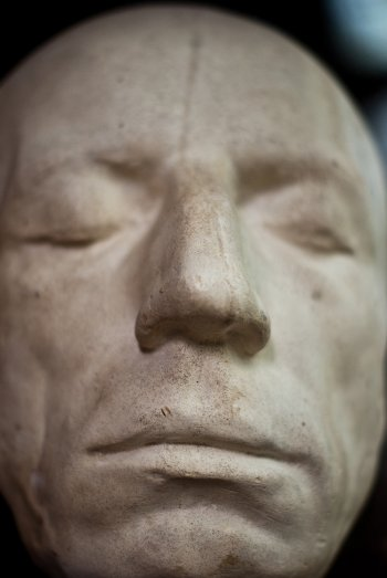 Closeup of the life mask of William Wordsworth, by Paul Everest