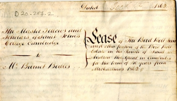 Barnett Beales' lease for the Birdbolt Inn (1862)