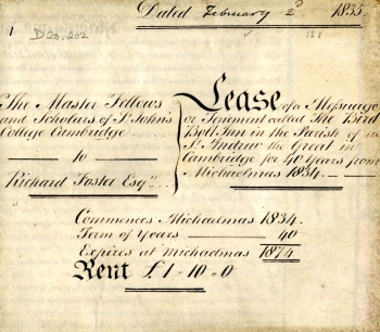 Lease to B Beales for the Birdbolt (1835)