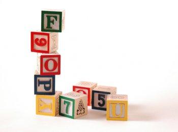 child's playing blocks