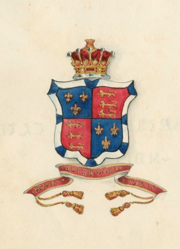 College crest from LMBC President's Book (1825-1833)