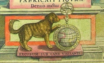 The 'watchful hound', printer's mark of Jodocus Hondius