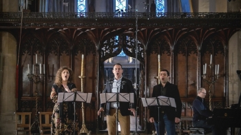 Singers performing 'Sardanapalo' by Liszt.