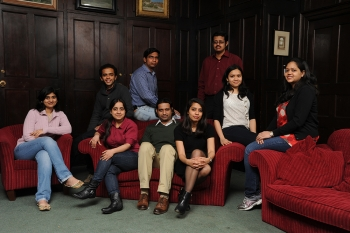 Manmohan Singh Scholars in the historic surroundings of St John's