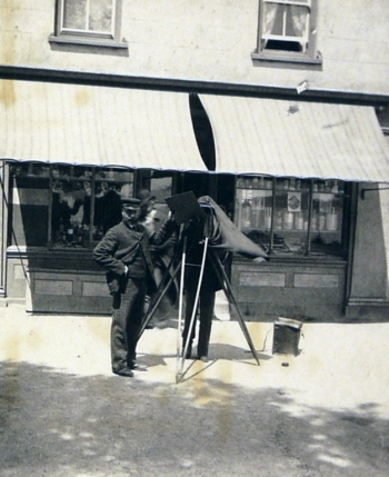 Samuel Butler, 'Photographer at work. St Brelade. Jersey. May 23' (1893; detail)
