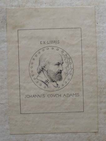 John Couch Adams's bookplate.