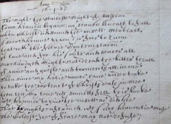 Detail showing the first sonnet of the sequence.