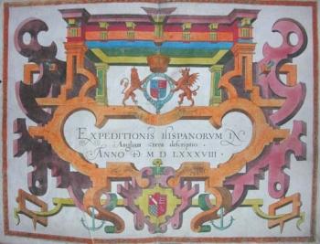Title page of Expeditionis Hispanorum in Angliam vera descriptio.