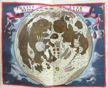 The moon, by John Seller.