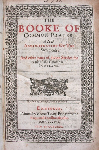 Title page of the Book of Common Prayer.