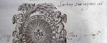 Crashaw's initials and motto on a title-page.