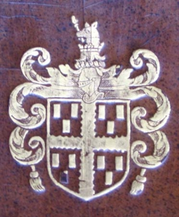 Sir Robert Heath's binding-stamp.