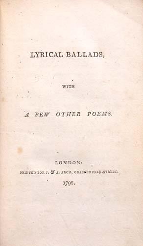 Title page of Lyrical Ballads.