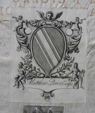 Matthew Prior's bookplate.