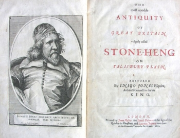 Inigo Jones's frontispiece portrait and title page.