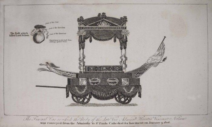 Nelson's funeral carriage