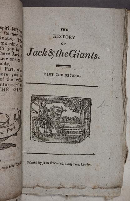 Jack & the Giants chapbook 1790s