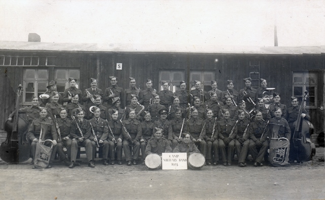 Crook with his clarinet on the first row, fourth from the right