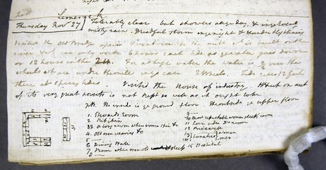 John Lee's diary 27 November 1806 Limerick