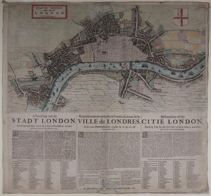 Doornick's 'Platte grondt der stadt London'