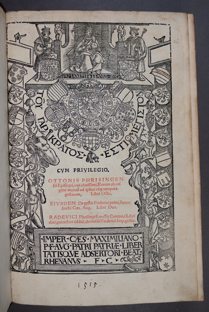 Title page of Otto of Freising's Gesta Friderici
