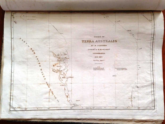 Chart of the coast of Queensland