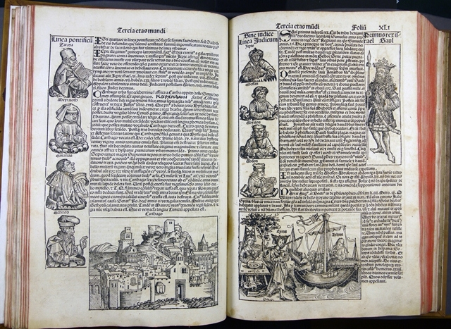A typical opening showing the wealth of images on each page