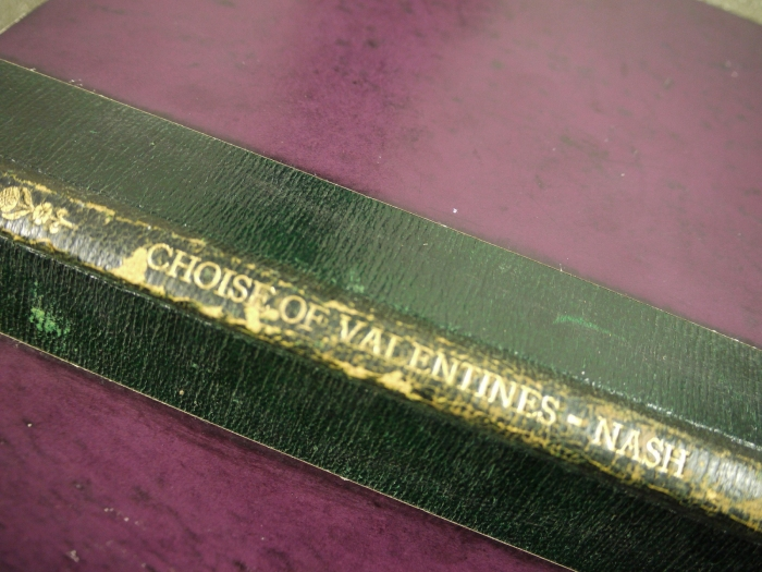 Spine detail from The Choise of Valentines.