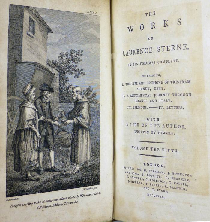 1780 title page and frontispiece