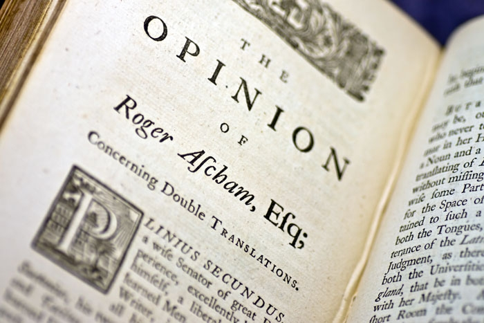 """Ascham's """"Opinion"""" concerning double translations"""