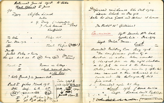 EE Sikes' notebook