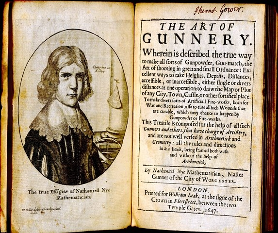 The art of gunnery by Nathaniel Nye, 1647.