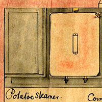 Kitchen equipment supplied by Clement Jeakes (1868)