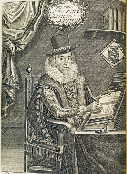 Francis Bacon - 1641 edition, frontispiece portrait