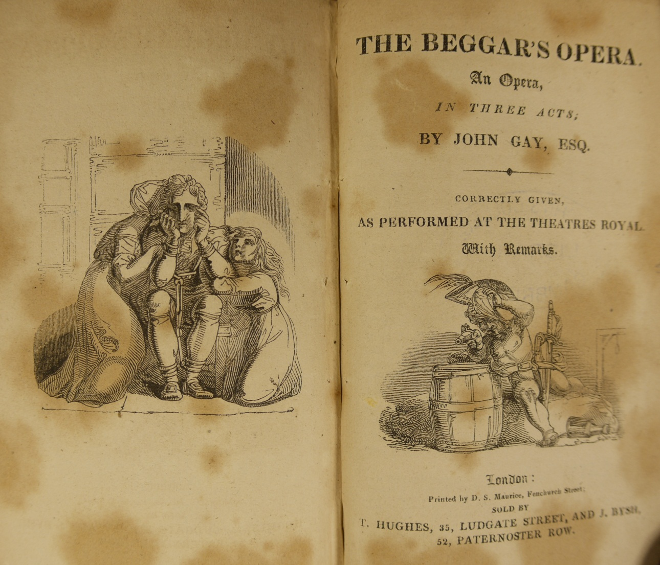 Cover page for the libretto of The Beggar's Opera