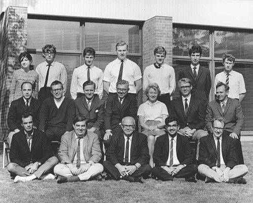 Photograph of the members of the new Institute of Theoretical Astronomy in 1967