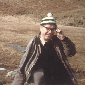 Fred Hoyle on the Yorkshire/Lancashire border wearing a very fetching bobble hat in the 1970s. Hoyle photographs.