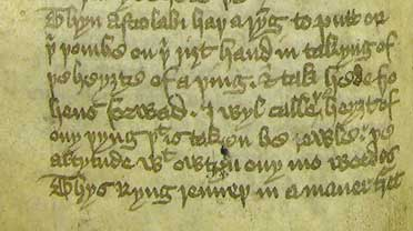 Extract from Chaucer's Treatise on the Astrolabe, MS E.2, f. 10r