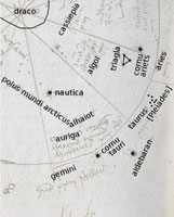 The top-left-hand quadrant of Betson's star map
