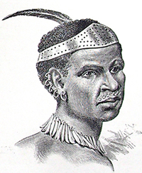 Coroneted Avisibba Warrior from Henry Stanley's 'In Darkest Africa' (1890)