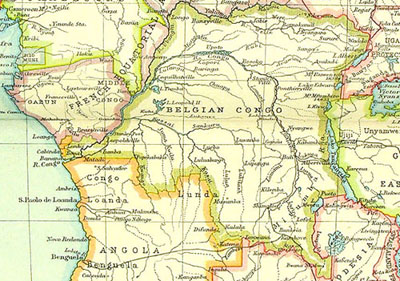 Map Of Africa Congo River.The Scramble For Africa Stjohns