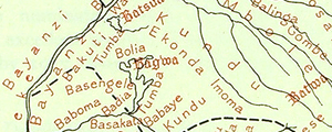 Map of tribes in the Belgian Congo