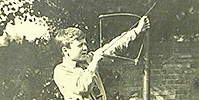 Photograph of T. R. Glover's son, Richard from Glover's 1921 diary